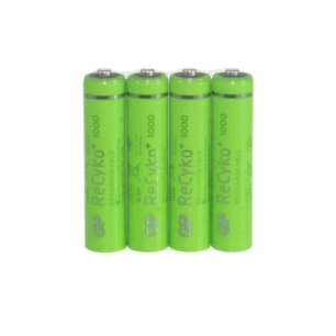 4 x GP Recyko+ New R03/AAA 1000mAh