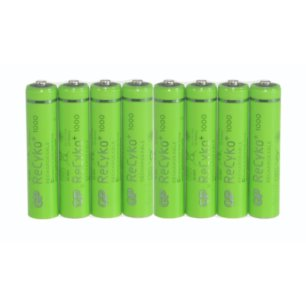 8 x GP Recyko+ New R03/AAA 1000mAh